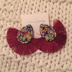 NWT! Multi-Color Tassel Earrings